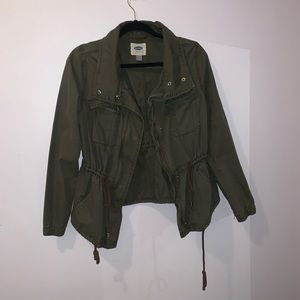 Old Navy Army Green Adjustable Utility Jacket